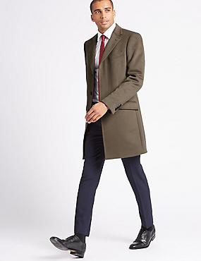 Pure Cashmere Revere Coat, TAUPE, catlanding