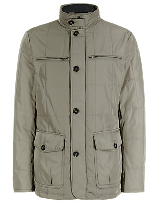 Double Collar Quilted Jacket with Stormwear™ Clothing