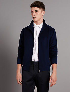 Tailored Fit Modern Bomber Jacket