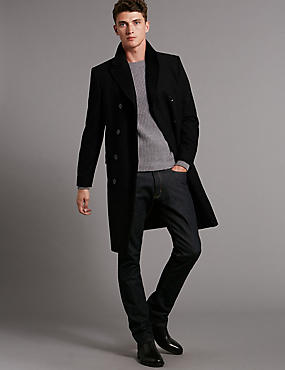 Tailored Fit Double Breasted Overcoat