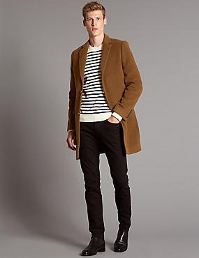 Wool Rich Revere Overcoat, TOBACCO, catlanding