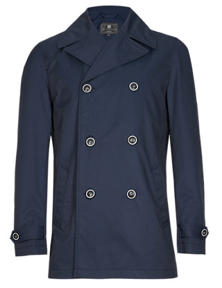 Double Breasted Pea Coat with Stormwear™ Clothing