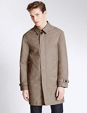 Mens Trench Coats | Water Resistant Mac Coats For Men | M&S