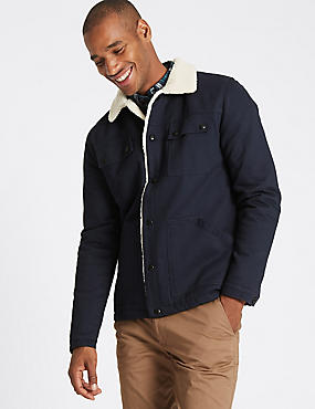 Pure Cotton Jacket with Stormwear™ , DARK NAVY, catlanding