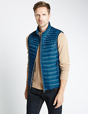 Dot Print Quilted Gilet with Stormwear™
