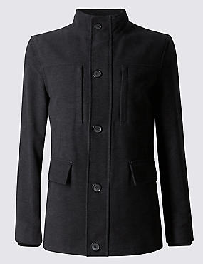Cotton Rich Tailored Fit Moleskin Jacket