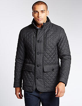 Quilted Textured Jacket with Stormwear™