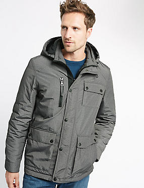 Textured Urban Parka with Stormwear™