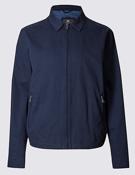 Pure Cotton Jacket With Stormwear