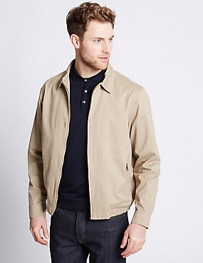 Pure Cotton Bomber Jacket with Stormwear™