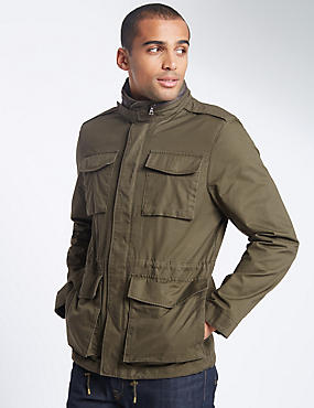 Pure Cotton 4 Pocket Jacket with Stormwear™