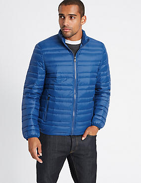 Down & Feather Jacket with Stormwear™, COBALT, catlanding