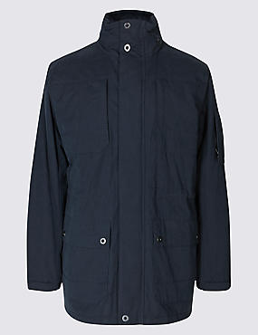 Cotton Blend Jacket with Stormwear™