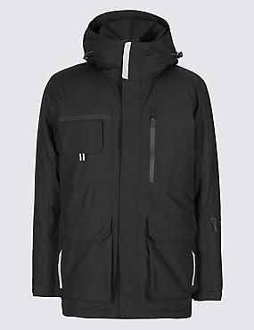 Padded Parka Coat with Stormwear™, BLACK, catlanding