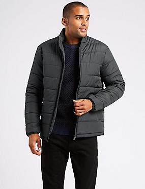 Quilted Jacket with Stormwear™, GREY, catlanding