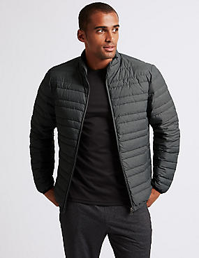 Down & Feather Jacket with Stormwear™, LIGHT GREY MIX, catlanding