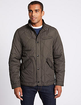 Quilted Jacket with Stormwear™, BROWN, catlanding