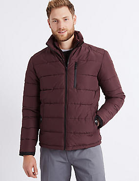 Padded Jacket with Stormwear™ , BURGUNDY, catlanding