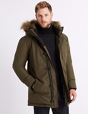 Parka with Stormwear™, OLIVE, catlanding