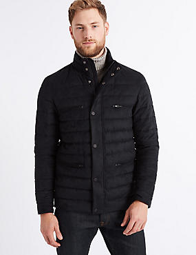 Quilted Jacket with Stormwear™ , NAVY, catlanding