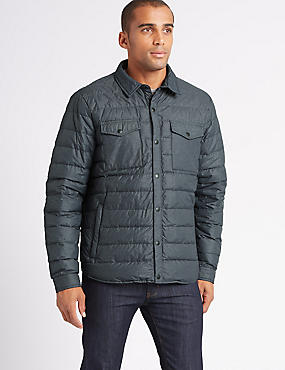 Down & Feather Jacket with Stormwear™, GREY MIX, catlanding