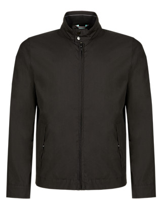 Pure Cotton Water Resistant Bomber Jacket with Stormwear™ Clothing