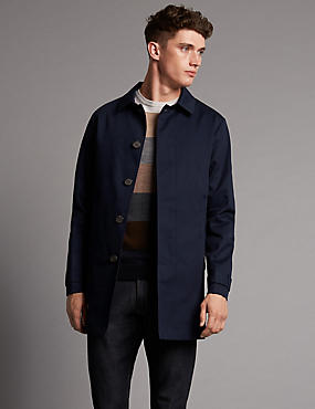 Pure Cotton Bonded Mac Coat with Stormwear™