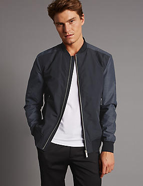 Contrast Sleeve Bomber Jacket with Stormwear™