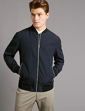 Seersucker Bomber Jacket with Stormwear™
