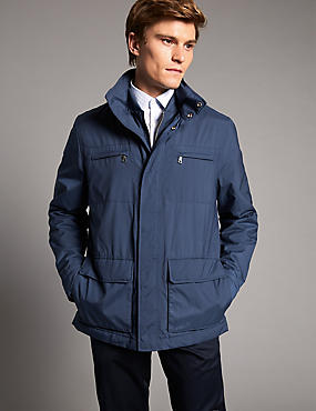 Padded 4 Pocket Jacket with Stormwear™, BLUE MIX, catlanding