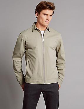Zipped Through Shirt Jacket with Stormwear™, LIGHT BEIGE, catlanding