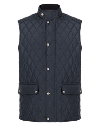 Quilted & Panelled Gilet with Stormwear™ Clothing