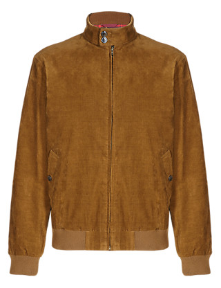 Pure Cotton Vintage Inspired Corduroy Bomber Jacket Clothing