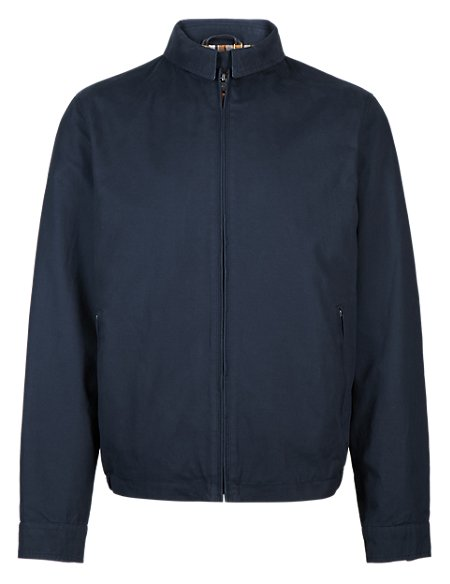 Pure Cotton Harrington Bomber Jacket