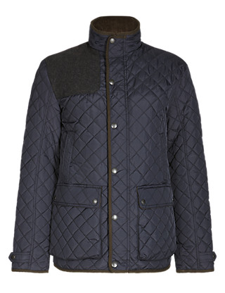 Slim Fit Water Resistant Quilted Jacket with Stormwear™ Clothing