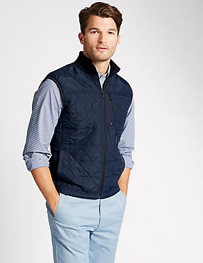 Thinsulate™ Tailored Fit Quilted Gilet with Stormwear™