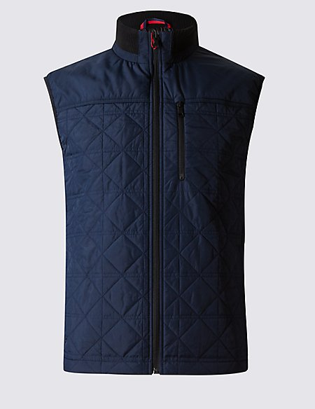 Tailored Fit Quilted Gilet with Stormwear™