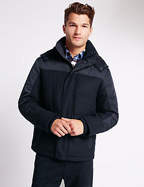Wool Blend Quilted Jacket with Stormwear™