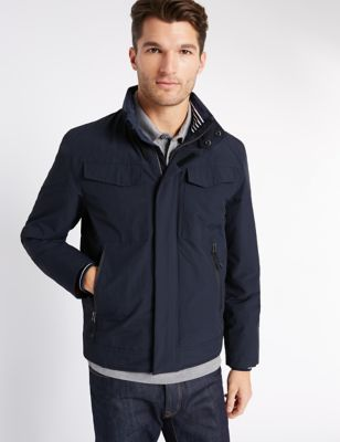 Fleece Bomber Jacket with Stormwear™ | M&S