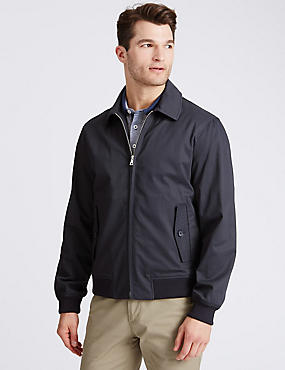Cotton Rich Harrington Jacket with Stormwear™