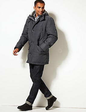 Down & Feather Parka with Stormwear™, GREY, catlanding