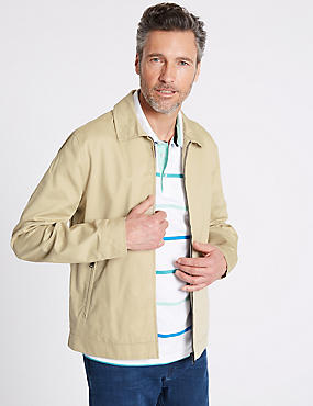 Pure Cotton Jacket with Stormwear™, STONE, catlanding