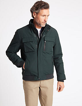 Fleece Sailing Jacket with Stormwear™, DARK GREEN, catlanding