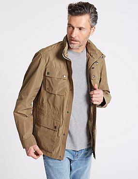 4 Pocket Jacket with Stormwear™, SAND, catlanding