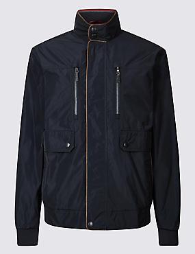 Bomber Jacket with Stormwear™, DARK NAVY, catlanding