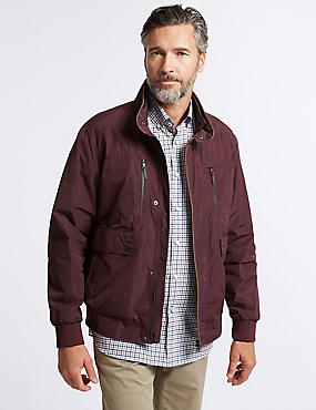 Bomber Jacket with Stormwear™, DARK CLARET, catlanding