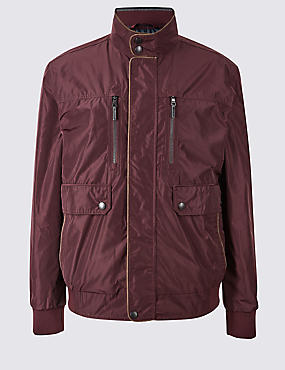 Bomber Jacket with Stormwear™, DARK CLARET, catlanding