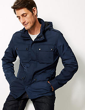 Four Pocket Jacket with Stormwear™  , INDIGO, catlanding