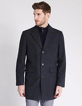 Single Breasted Modern Geo Overcoat