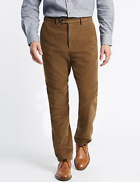Pure Cotton Moleskin Chinos